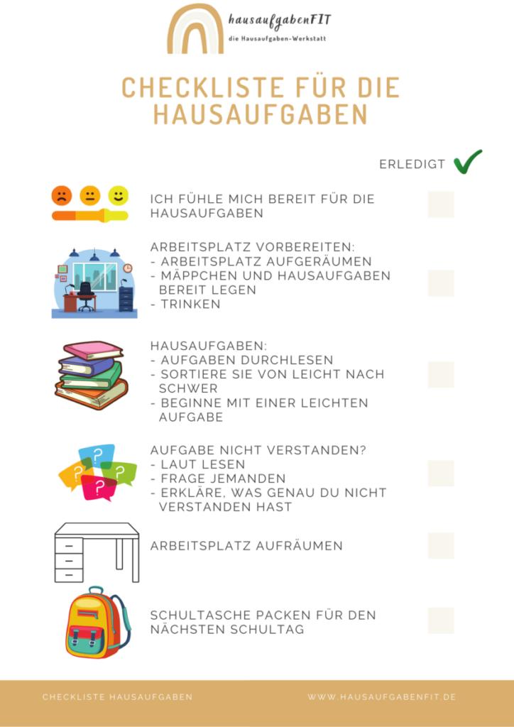 Hausaufgaben | Checkliste